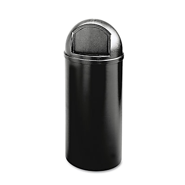 Rubbermaid® Commercial Marshal® Classic Container, Black, 25 gal