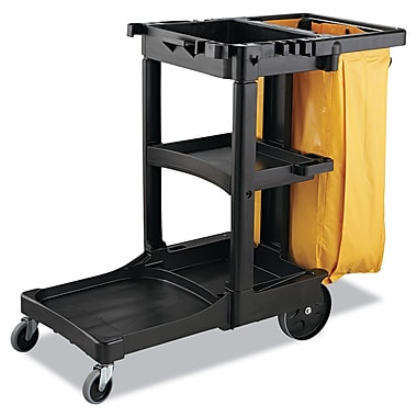 Rubbermaid Commercial 17.5in.H x 10.5in.W x 33in.D Vinyl Cart bag Yellow
