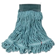 Rubbermaid Commercial Swinger Loop Wet Mop, Headband Green