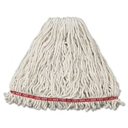 Rubbermaid Commercial Web Foot Wet Mop Head , Shrinkless , Cotton/Synthetic White