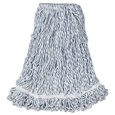 Rubbermaid Commercial Web Foot Finish Mops, Cotton/Synthetic, Large, 1