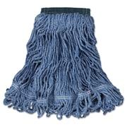 Rubbermaid Commercial Swinger Loop Wet Mop Heads, Cotton/Synthetic, Blue, Medium