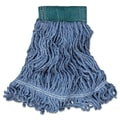 Rubbermaid Commercial Super Stitch Blend Mop Heads Cotton/Synthetic Blue Medium Blue