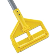 "Rubbermaid Commercial Invader Aluminum Side-Gate Wet-Mop Handle, 60"", Gray/Yellow"