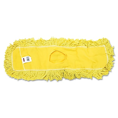 Rubbermaid Commercial Trapper Commercial Dust Mop Looped-end Launderable 5in. x 24in. Yellow
