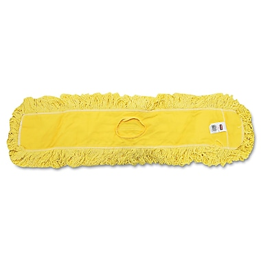 Rubbermaid Commercial Trapper Commercial Dust Mop Looped-End Launderable Yellow