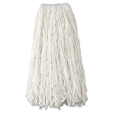 Rubbermaid Commercial Economy Wet Mop Heads, Rayon, Cut End White