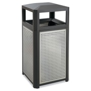 Safco Evos Series Steel Bins 38-Gallon Black