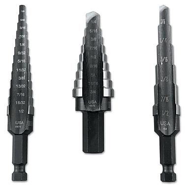 Unibit® HSS 3 pcs Self Starting Step Drill Set, Includes #1, #2, #3