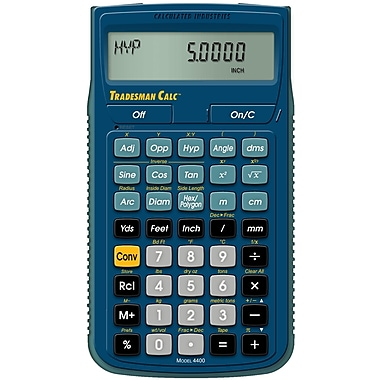 Calculated Industries - Calculatrice de conversions Tradesman Calc™ 4400