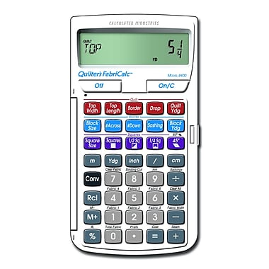 Calculated Industries Quilters FabriCalc® 8400 Calculator