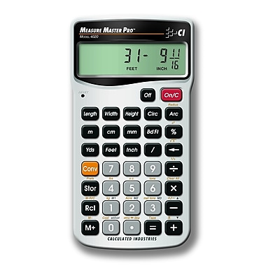 Calculated Industries Measure Master Pro™ 4020 Metric Calculator