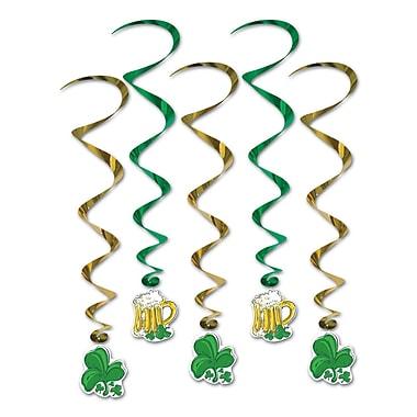 Beistle – Guirlandes spirales Saint-Patrick, 3 pi 4 po, paquet de 15