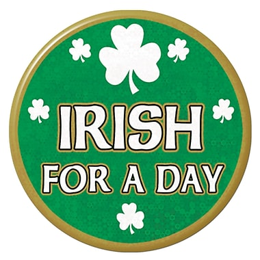 Beistle Irish For A Day Button, 3-1/2