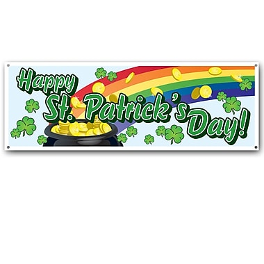 Beistle Happy St Patrick's Day! Sign Banner, 5' x 21