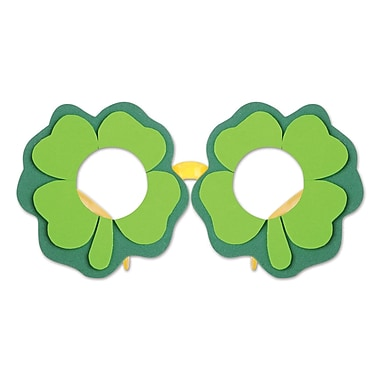 Beistle Shamrock Glasses, 4/Pack