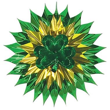 Beistle – Éventail éclatant décoratif en forme de trèfle, 15 po, paquet de 4