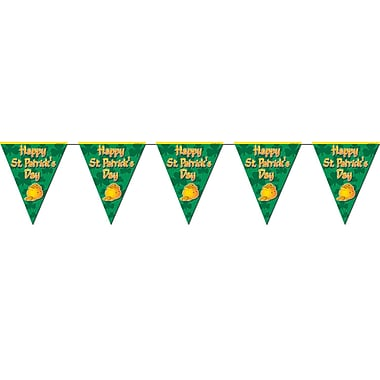 Beistle Happy St Patrick's Day Pennant Banner, 10