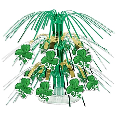 Beistle Shamrock Mini Cascade Centerpiece, 7-1/2