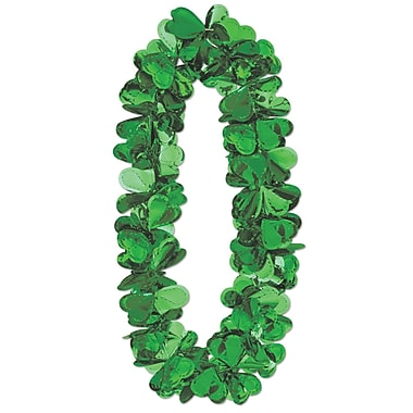 Beistle Flashy Foil Shamrock Lei, 40