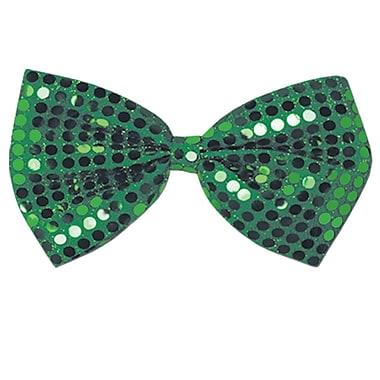 Beistle – Nœud papillon vert Glitz 'N Gleam, 4 1/4 x 7 po, paquet de 5