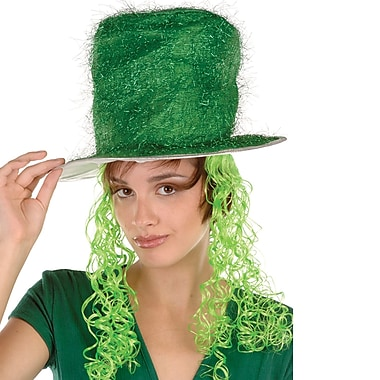 Beistle Tinsel Top Hat With Curly Wig, 2/Pack