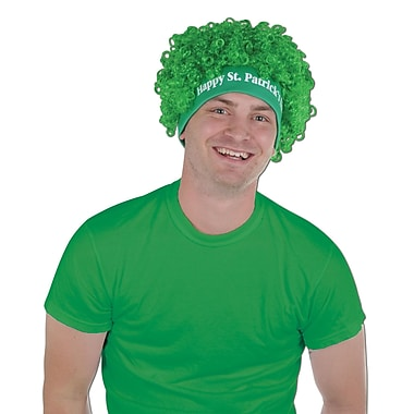 Beistle Happy St Patrick's Day Wig, 2/Pack