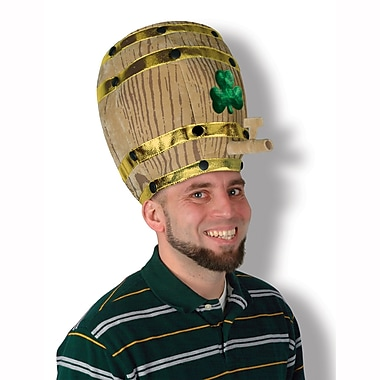 Beistle Plush Shamrock Beer Barrel Hat
