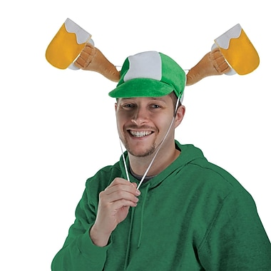 Beistle Plush St Patrick's Day Mugs Cap, 2/Pack