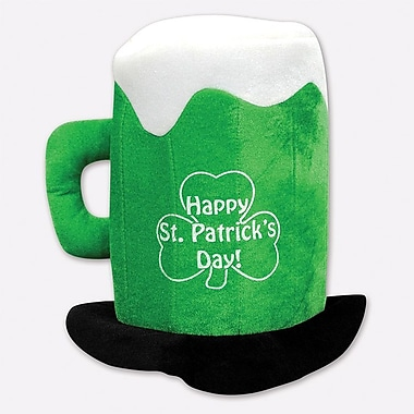 Beistle Plush St Patrick's Day Beer Mug Hat, 2/Pack