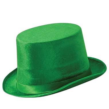 Beistle Green Vel-Felt Top Hat, 2/Pack