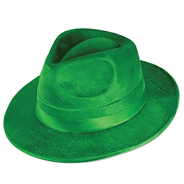 Beistle Green Vel-Felt Fedora, 3/Pack