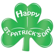 "Beistle 13"" Printed Foil Shamrock Cutouts, 5/Pack"