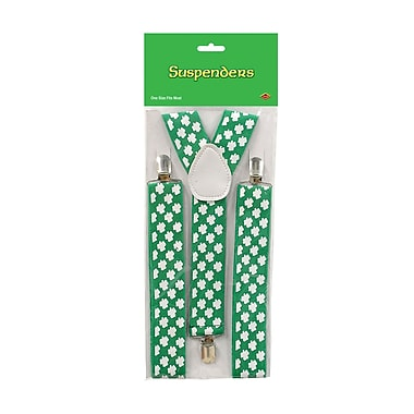 Beistle Shamrock Suspenders, 2/Pack