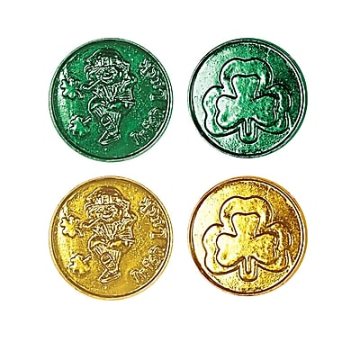 Beistle Lucky Leprechaun Plastic Coins, 1-1/2