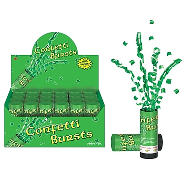 Beistle St. Patrick's Day Confetti Bursts, Green, 24/Pack
