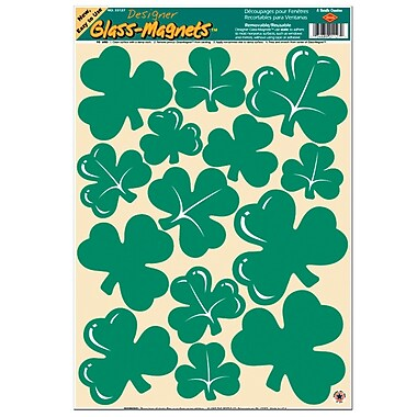 Beistle Shamrock Clings, 12