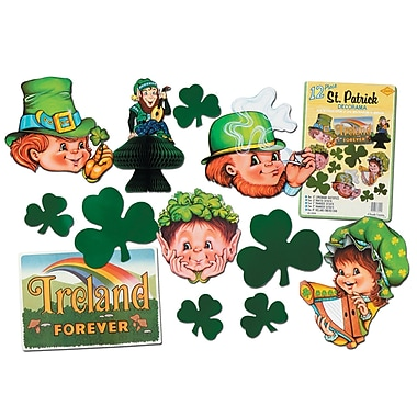 Beistle St Patrick Decorama, Assorted Sizes