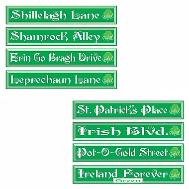 Beistle St Patrick's Day Street Sign Cutouts, 4
