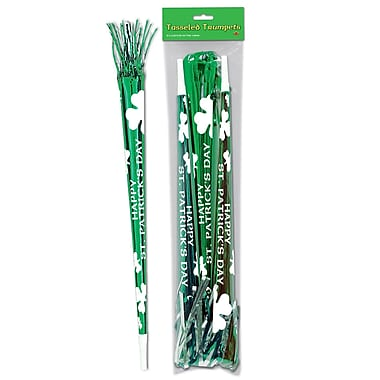 Beistle Packaged St Patrick Tasseled Trumpets, 25