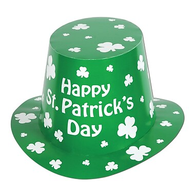 Beistle Happy St Patrick's Day Hi-Hat, 25/Pack