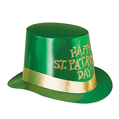 Beistle Glittered St Patrick's Day Foil Hi-Hat, 25/pack