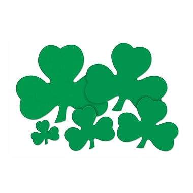 Beistle Printed Shamrock Cutouts