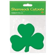 "Beistle 5"" Printed Shamrock Cutouts, 70/Pack"