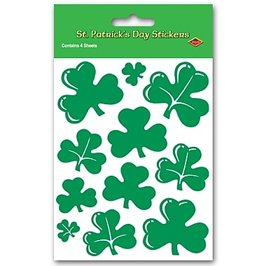 Beistle Shamrock Stickers, 4 3/4