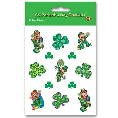 Beistle – Autocollants de leprechauns, 4 3/4 x 7 1/2 po, paquet de 16