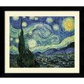Amanti Art Vincent Van Gogh in.The Starry Nightin. Framed Print Art, 24.62in. x 30.62in.