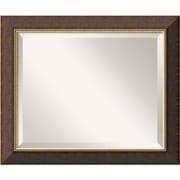 """Amanti Art 24"""" x 20"""" Old World Medium Wall Mirror, Dark Brown/Antique Gold"""