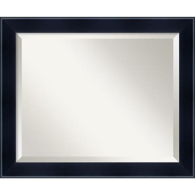 Amanti Art 23.12in. x 19.12in. Madison Medium Wall Mirror, Satin Black