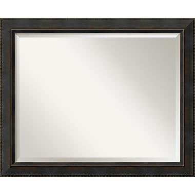 Amanti Art 32.38in. x 26.38in. Hemingway Large Wall Mirror, Dark Bronze